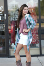 Meadow Plaid Kimono Jacket - Moxie a sass + class boutique | Wichita, KS