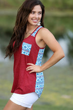Rodeo Aztec Accent Design Tank - Moxie a sass + class boutique | Wichita, KS