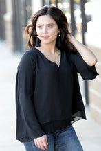 Rainmaker Flare Sleeve Tiered Blouse