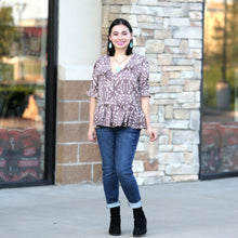 Stuck With You Peplum Blouse