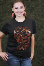 Headdress Bronze Foil Graphic T-Shirt