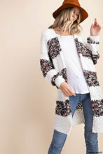 Honey Bee Color Block Popcorn Open Cardigan