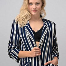 NAVY STRIPEY JACKET