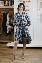 Pocho Plaid Duster Dress