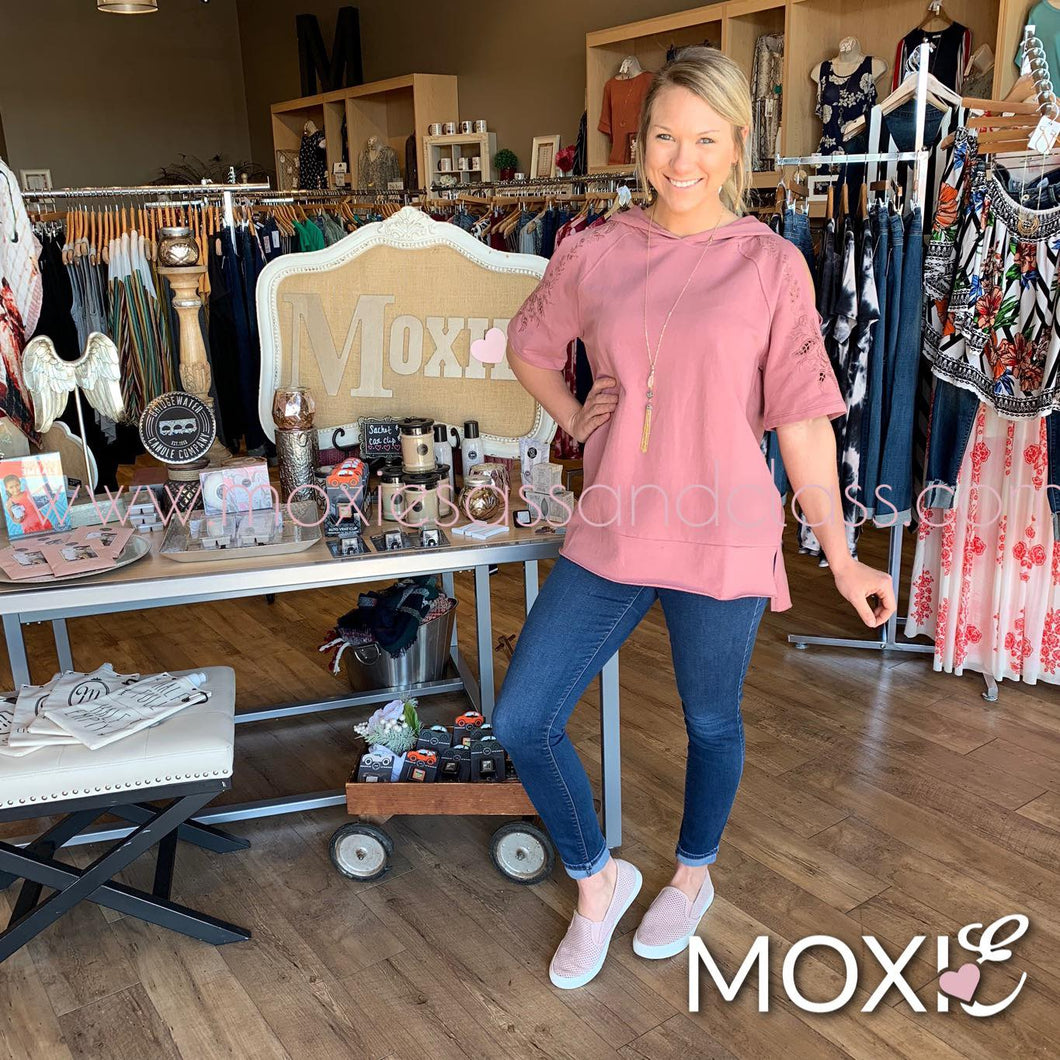 Dried Rose Libby Hoodie - Moxie a sass + class boutique