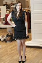 """Montclaire"" Black Pom Pom Chiffon Tank Dress - Moxie a sass + class boutique 
