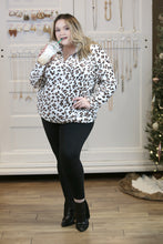 Minky Animal Print Sherpa Quarter Zip