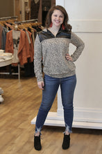 """Lincoln"" Quarter Zip  Leopard Print Top - Moxie a sass + class boutique Wichita Boutique"
