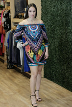 """Agnes"" Colorful Off the Shoulder Shift Dress - Moxie a sass + class boutique 