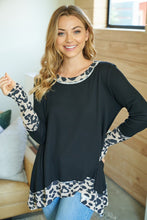Birch Animal Print Accent Top