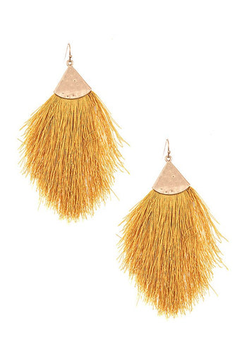 Fringe Tassel Statement Earrings - Moxie a sass + class boutique Wichita Boutique