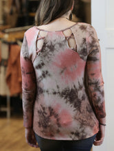 """Fawn"" Tie Dye Top with Back Lace-up Detail - Moxie a sass + class boutique Wichita Boutique"