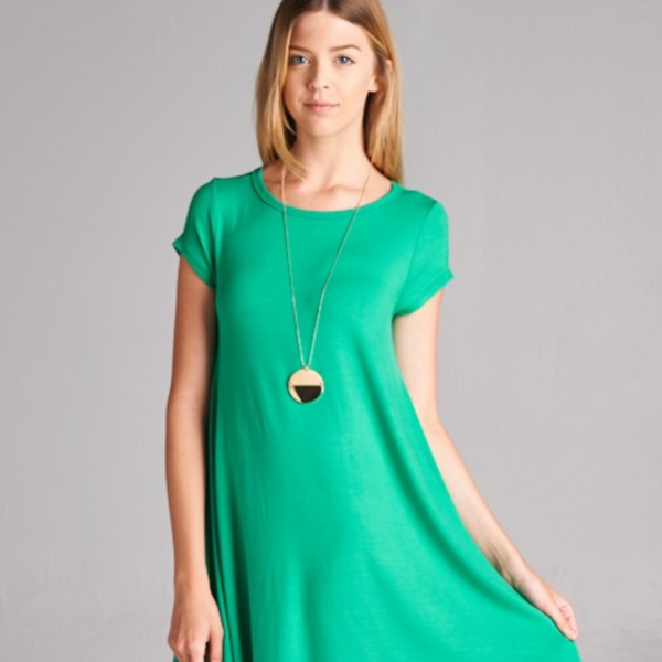 ESSENTIAL SHIFT DRESS - SHORT SLEEVE