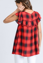 LUMBER JILL PLAID BLOUSE