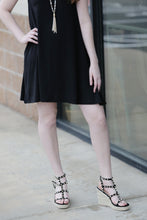 """Beta"" Studdded Wedge Sandals - Moxie a sass + class boutique 