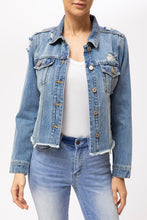 Marvel Cropped Distressed Jean Jacket