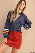 Big Band Stripe Sleeve Sweater