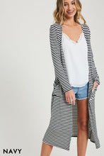 """Hotspot"" Lightweight Stripe Duster Cardigan - Moxie a sass + class boutique 