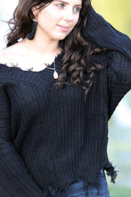 Claire Frayed V Neck Sweater