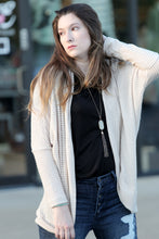 My Story Waffle Knit Cardigan with Dolman sleeves