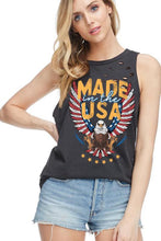 Screaming Eagle Graphic Tank T-shirt - Moxie a sass + class boutique | Wichita, KS