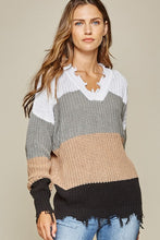 Raw Colorblock Sweater