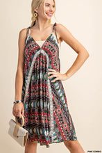 Tribal Print Spaghetti Strap Dress