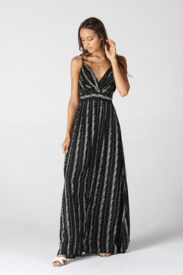 Anastasia V Neck Maxi Dress - Moxie a sass + class boutique | Wichita, KS