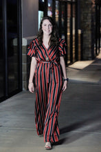 """Sateen"" Satin Stripe Jumpsuit - Moxie a sass + class boutique Wichita Boutique"