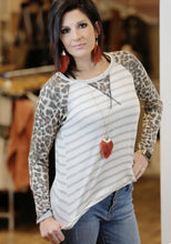 """Blame"" Leopard Contrast Raglan Top - Moxie a sass + class boutique Wichita Boutique"