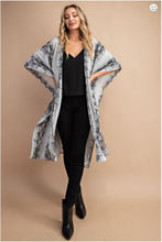 """Sahara"" Snake Print Duster Kimono - Moxie a sass + class boutique 