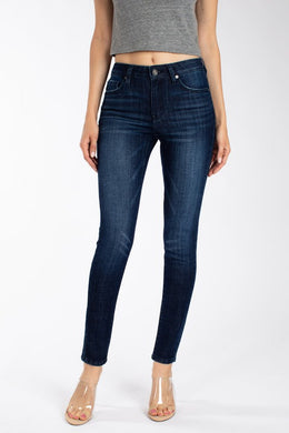 Kirsi Dark Wash Skinny Jeans - Moxie a sass + class boutique | Wichita, KS