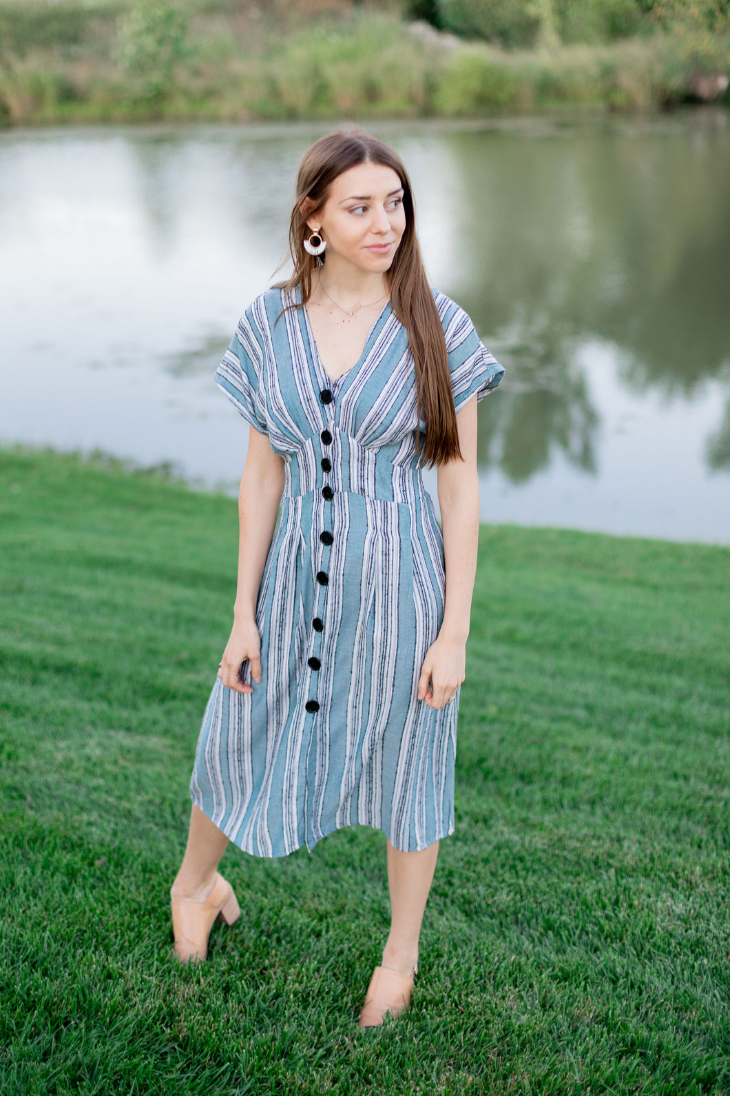 """Haven"" Button Up Dress"