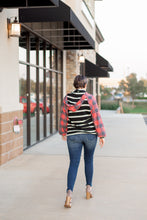 """Merry"" Striped and Red Buffalo Plaid Hoodie - Moxie a sass + class boutique 