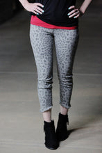 """Mougli"" Leopard Jeans with Raw Hem"