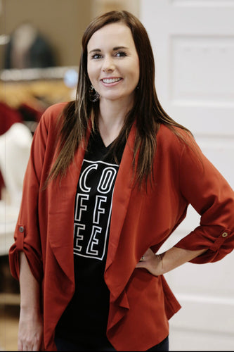 """Coffee"" Graphic T-Shirt - Moxie a sass + class boutique Wichita Boutique"