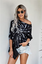 Edgy Spiral Tie Dye Pullover