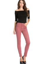 MAUVE HIGH WAISTED SKINNY JEANS