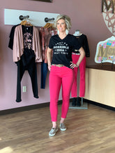 """Peony"" Pink High Waisted Jeans - Moxie a sass + class boutique 
