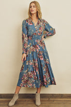 Joy Floral Surplice Tiered Dress