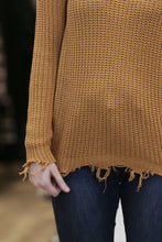 """Bumpy Pumpkin"" Torn Sweater - Moxie a sass + class boutique 