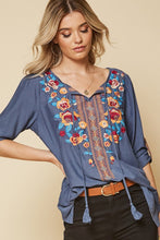 """Fiesta"" Embroidered Blouse - Moxie a sass + class boutique Wichita Boutique"