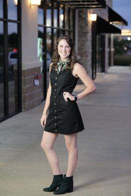 """Peace"" Button Up Dress - Moxie a sass + class boutique 
