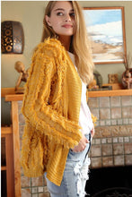 """Fuzzy"" Fringed Cardigan - Moxie a sass + class boutique Wichita Boutique"