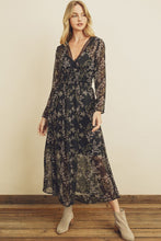 Hometown Floral Lace Trim Maxi Dress