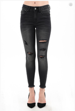 Black Destroyed Skinny Jeans - Moxie a sass + class boutique Wichita Boutique