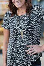Ozarks Abstract Animal Print Top