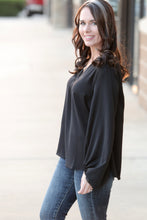 Saucy Bubble Sleeve Blouse