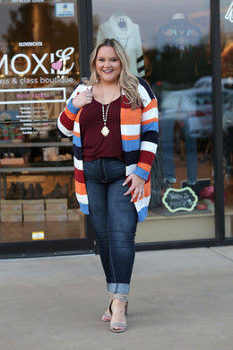 Vaccine Duster Colorblock Cardigan