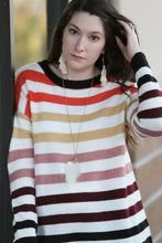 Ticketmaster Rainbow Striped Sweater